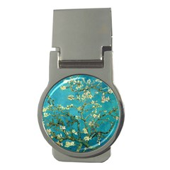 Vincent Van Gogh Blossoming Almond Tree Money Clip (round)