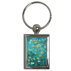 Vincent Van Gogh Blossoming Almond Tree Key Chain (rectangle)