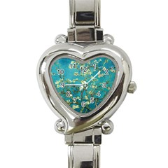 Vincent Van Gogh Blossoming Almond Tree Heart Italian Charm Watch
