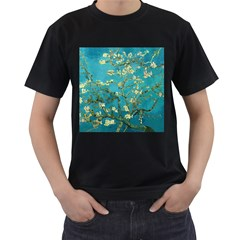 Vincent Van Gogh Blossoming Almond Tree Mens' Two Sided T-shirt (Black)