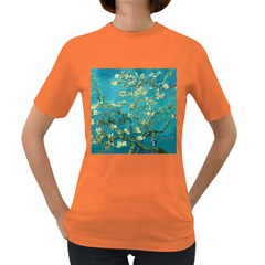 Vincent Van Gogh Blossoming Almond Tree Womens' T-shirt (Colored)