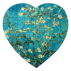 Vincent Van Gogh Blossoming Almond Tree Jigsaw Puzzle (heart)