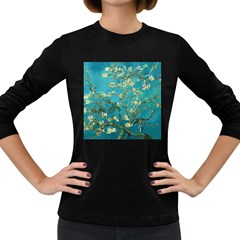 Vincent Van Gogh Blossoming Almond Tree Womens' Long Sleeve T-shirt (Dark Colored)
