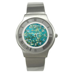 Vincent Van Gogh Blossoming Almond Tree Stainless Steel Watch (Slim)
