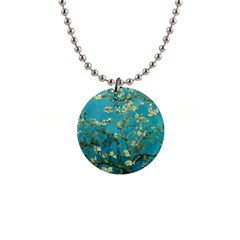 Vincent Van Gogh Blossoming Almond Tree Button Necklace