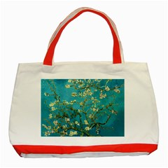 Vincent Van Gogh Blossoming Almond Tree Classic Tote Bag (Red)