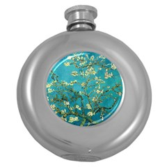 Vincent Van Gogh Blossoming Almond Tree Hip Flask (Round)