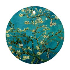 Vincent Van Gogh Blossoming Almond Tree Round Ornament (Two Sides)
