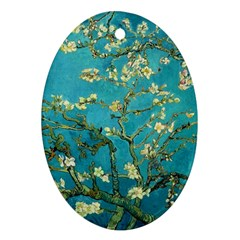 Vincent Van Gogh Blossoming Almond Tree Oval Ornament (Two Sides)