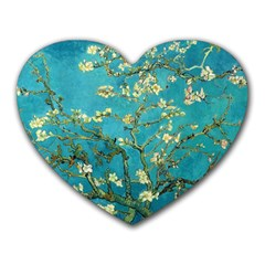 Vincent Van Gogh Blossoming Almond Tree Mouse Pad (Heart)