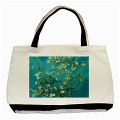Vincent Van Gogh Blossoming Almond Tree Twin-sided Black Tote Bag