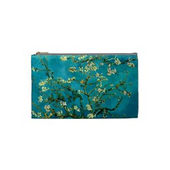 Vincent Van Gogh Blossoming Almond Tree Cosmetic Bag (Small)