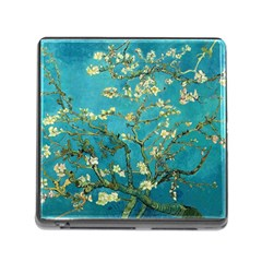 Vincent Van Gogh Blossoming Almond Tree Memory Card Reader with Storage (Square)