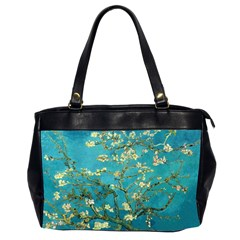 Vincent Van Gogh Blossoming Almond Tree Oversize Office Handbag (Two Sides)