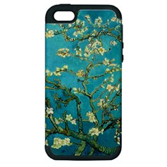 Vincent Van Gogh Blossoming Almond Tree Apple Iphone 5 Hardshell Case (pc+silicone)