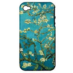 Vincent Van Gogh Blossoming Almond Tree Apple iPhone 4/4S Hardshell Case (PC+Silicone)