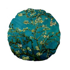 Vincent Van Gogh Blossoming Almond Tree 15  Premium Round Cushion