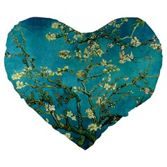 Vincent Van Gogh Blossoming Almond Tree 19  Premium Heart Shape Cushion