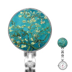 Vincent Van Gogh Blossoming Almond Tree Stainless Steel Nurses Watch