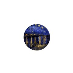 Vincent Van Gogh Starry Night Over The Rhone 1  Mini Button