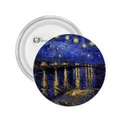 Vincent Van Gogh Starry Night Over The Rhone 2.25  Button