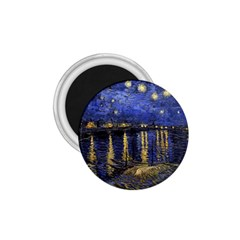 Vincent Van Gogh Starry Night Over The Rhone 1.75  Button Magnet