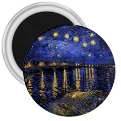 Vincent Van Gogh Starry Night Over The Rhone 3  Button Magnet