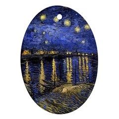Vincent Van Gogh Starry Night Over The Rhone Oval Ornament