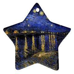 Vincent Van Gogh Starry Night Over The Rhone Star Ornament