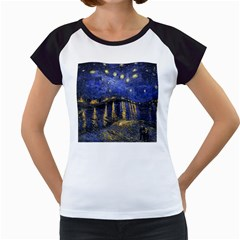 Vincent Van Gogh Starry Night Over The Rhone Women s Cap Sleeve T Shirt (white)
