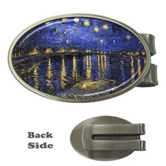 Vincent Van Gogh Starry Night Over The Rhone Money Clip (Oval)