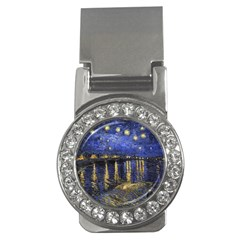 Vincent Van Gogh Starry Night Over The Rhone Money Clip (cz)