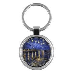 Vincent Van Gogh Starry Night Over The Rhone Key Chain (round)