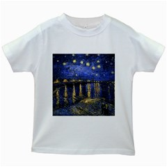 Vincent Van Gogh Starry Night Over The Rhone Kids' T-shirt (White)