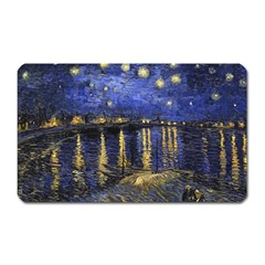 Vincent Van Gogh Starry Night Over The Rhone Magnet (rectangular)