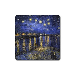 Vincent Van Gogh Starry Night Over The Rhone Magnet (Square)