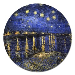 Vincent Van Gogh Starry Night Over The Rhone Magnet 5  (Round)