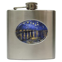 Vincent Van Gogh Starry Night Over The Rhone Hip Flask