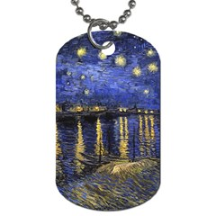 Vincent Van Gogh Starry Night Over The Rhone Dog Tag (Two-sided)