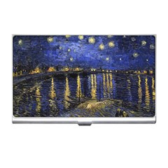 Vincent Van Gogh Starry Night Over The Rhone Business Card Holder
