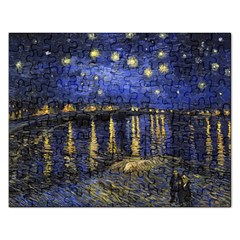 Vincent Van Gogh Starry Night Over The Rhone Jigsaw Puzzle (Rectangle)