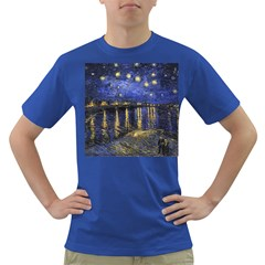 Vincent Van Gogh Starry Night Over The Rhone Mens' T-shirt (Colored)