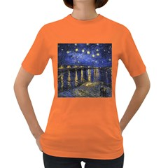 Vincent Van Gogh Starry Night Over The Rhone Womens' T-shirt (Colored)