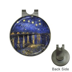 Vincent Van Gogh Starry Night Over The Rhone Hat Clip With Golf Ball Marker