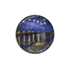 Vincent Van Gogh Starry Night Over The Rhone Golf Ball Marker 4 Pack (for Hat Clip)