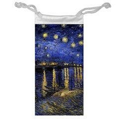 Vincent Van Gogh Starry Night Over The Rhone Jewelry Bag