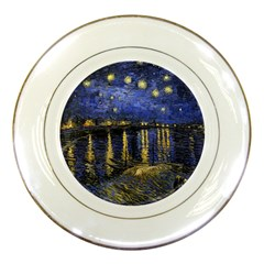 Vincent Van Gogh Starry Night Over The Rhone Porcelain Display Plate