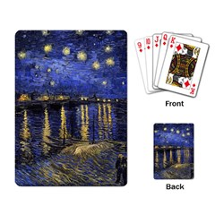 Vincent Van Gogh Starry Night Over The Rhone Playing Cards Single Design