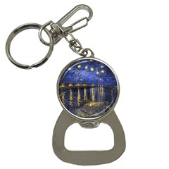 Vincent Van Gogh Starry Night Over The Rhone Bottle Opener Key Chain