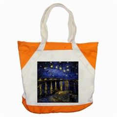 Vincent Van Gogh Starry Night Over The Rhone Accent Tote Bag